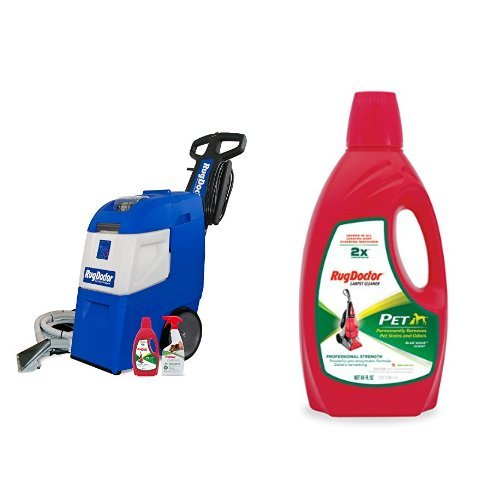 For Sale! Rug Doctor Mighty Pro X3 Pet Pack and Rug Doctor Pet Pro Carpet Cleaner,64oz Bundle