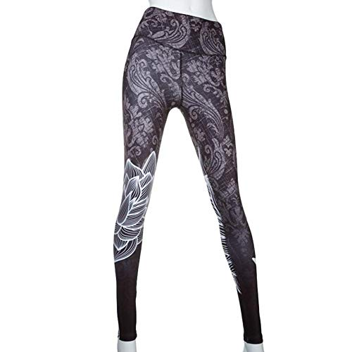 perfecti Damen Yoga Hosen Drucken Hohe Taille Training Laufende Leggings Polyester Sport Strumpfhose Fitness Yoga Joggen Pants Hose