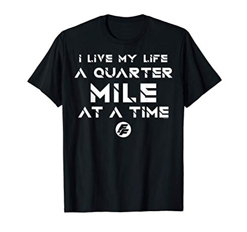 Fast & Furious Life At A Quarter Mile At A Time Word Stack T-Shirt