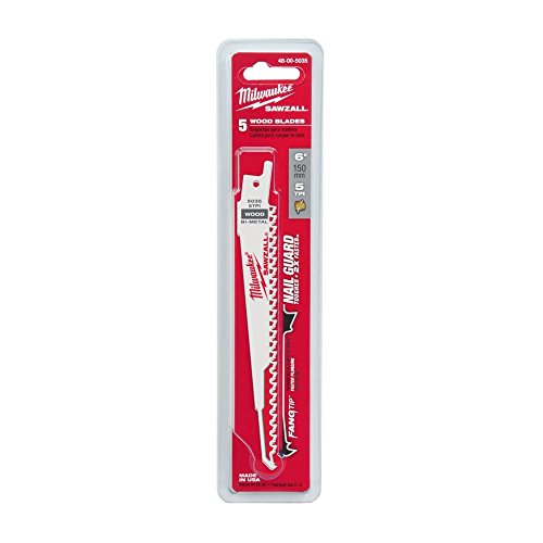 Milwaukee 48-00-5035 mil48005035 Cuchillas de Sierra caladora, Multicolor, 150mm 5 Tpi (5)