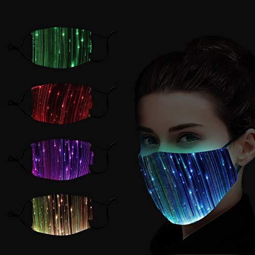 DEZHU LED Buntes Leuchten Für die Partybar schwarz,Männliche und weibliche Lustige atmungsaktiver Stoff, Outdoor Unisex, Baumwolle Soft für Radfahren Anti-Staub Staub Momoxi MOIX