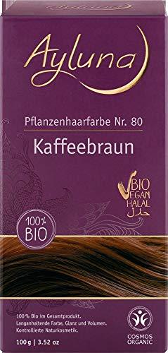 Ayluna Bio Pflanzenhaarfarbe Kaffeebraun (6 x 100 gr)