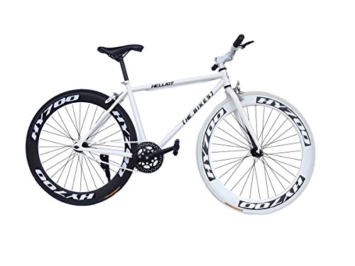Helliot Bikes Fixie Brooklyn H30, Bicicletta Singola velocit Uomo, Bianco, Standard