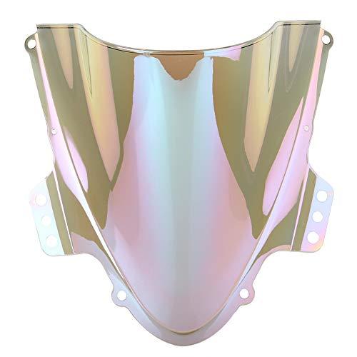OYiRY Piezas De Motocicleta Protector De Parabrisas/Ajuste para Suzuki GSXR 1000 2005 2006 (Color : Iridium)
