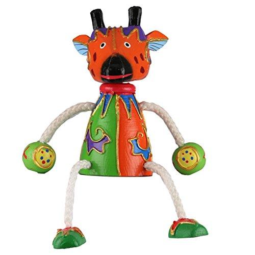 Sitztier Giraffe aus Holz handgeschnitzt und hand bemalt HTSK006