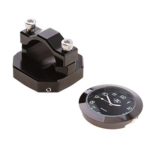 Motorraduhr Uhr Uhren Motorräder Lenkeruhr wasserdichte Lenker Zifferblatt Uhr - Schwarz