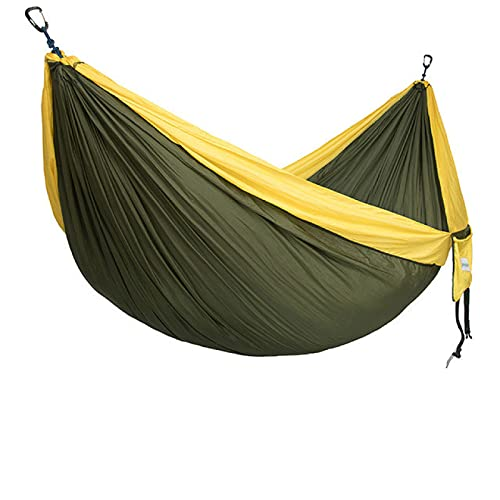 Aiong Hamaca, Senderismo Camping Hamaca Jardín al Aire Libre Hamaca Colgante Paracaídas portátil Nylon Hamacas Dobles con 3 m