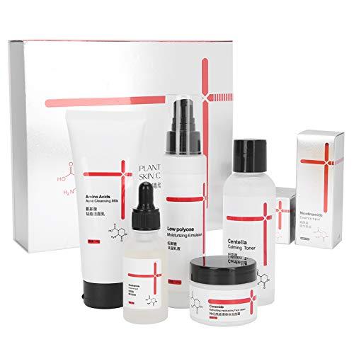 Kit hidratante para el cuidado de la piel, 5 piezas, juego completo para el cuidado de la piel, incluye loción blanqueadora, crema limpiadora facial, extractos de tóner, antienvejecimiento