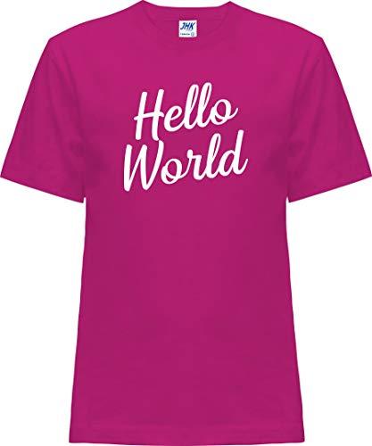 Kleckerliese Nicki T-shirt à manches courtes pour bébé et fille Motif Hello World - Rouge - 0 ans