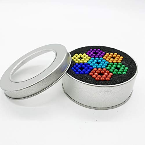 Qqwe 5MM 252pcs Magnetic Beads, Magnets Sculpture Building Blocks Toys for Intelligence Learning -Office Toy & Stress Relief for Adults Teens Boys Girls