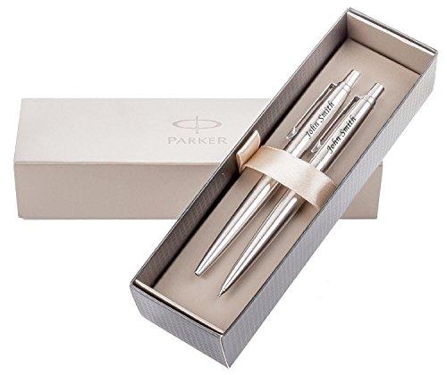 Parker Jotter-Penna a sfera & Pencil in acciaio inox, personalizzabile con incisione