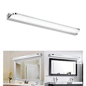 Glighone 14W 62cm Luz Baño Lámpara Espejo LED 2835SMD 6500k Luz de Maquillaje contra Niebla Impermeable Apliques Acero…