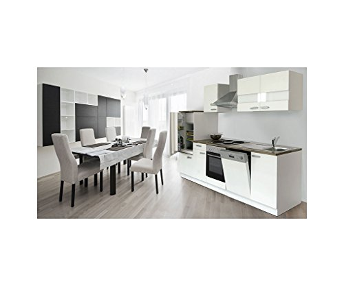 Respekta cucina in Riga Incasso cucina cucina cucina Block Bianco 280cm in blocco lbkb280ww