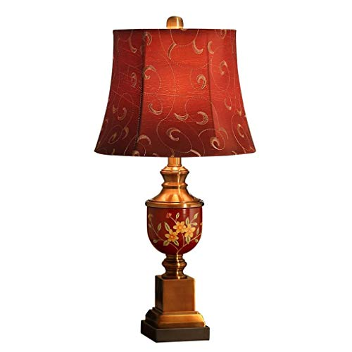 Lámpara Mesa Lámpara de mesa de estudio sitio de la tabla lámpara de mesa de boda dormitorio lámpara de cabecera creativo retro caliente de la boda roja romántica de la boda de la lámpara Lampara Mesi