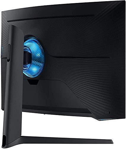 Samsung G7 (C32G73TQSU) 80,01 cm (32 Zoll) QLED Curved Odyssey Gaming Monitor (2.560 x 1.440 Pixel, 240 Hz, 1ms, 1000R, Dual Monitor geeignet, PC Monitor, AMD FreeSync, G-Sync Kompatibel) schwarz