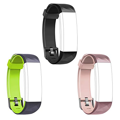 Letsfit Replacement Bands for ID131Color HR, Adjustable Bands Straps Fitness Tracker ID131Color HR, Accessory Bands, 3 Pack (Black, Green, Pink)