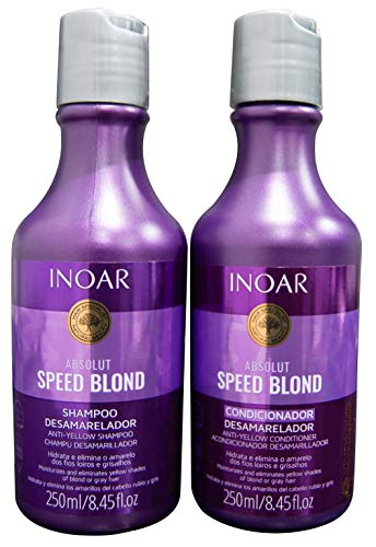 Inoar Kit Duo Shampoo e Condicionador Speed Blond Matizador, 2x250 ml, 2 unidades