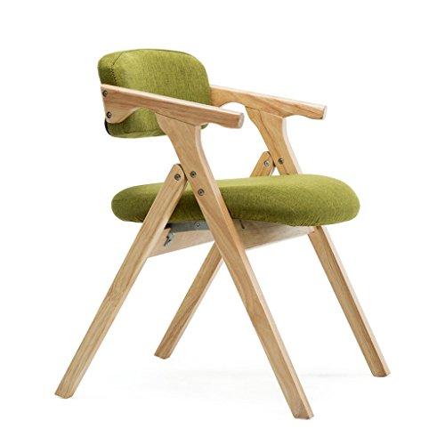 Salle à manger Chaises Chaise Pliante Nordique en Bois Massif à Manger Table et Chaise Simple Tissu Pliant Chaise Loisirs accoudoir Chaise à la Maison Chaise d'ordinateur