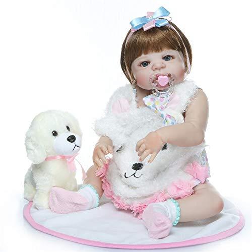 "LVYE1 22.4"" Bebe Muñeca Reborn Baby Realista Cuerpo Completo Silicona Impermeable Boneca Reborn Corpo De Silicona Menina"