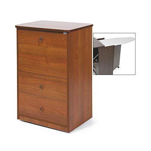 Mobile con asse da stiro in legno con 3 cassetti noce antico cm 40x54xH84
