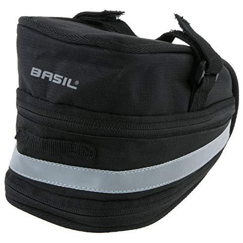 Basil Unisex– Erwachsene Satteltasche Mada, Schwarz, 11 x 10 x 9 cm, 1 Liter