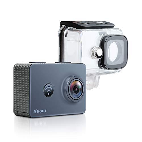 SHOOT Cámara de Acción 2.4G Remoto 4K Wi-Fi 1080P 14MP Cámara Deportiva 170 Grados Amplio Ángulo de visión