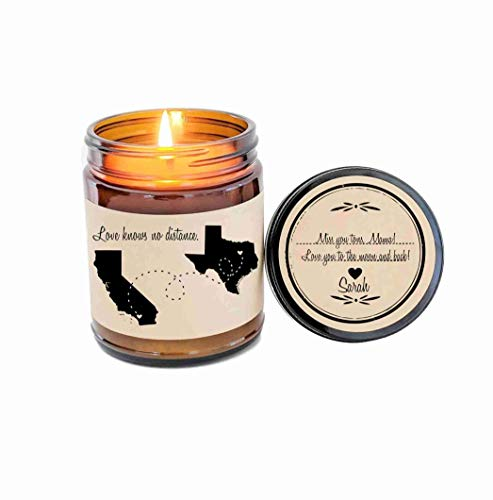 Long Distance Gift for Mom Love Knows No Distance Scented...