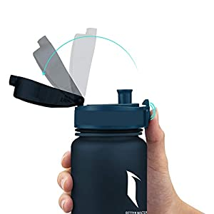 Super Sparrow Sports Water Bottle - 350ml-500ml-1000ml - Non-Toxic BPA Free & Eco-Friendly Tritan Co-Polyester Plastic - Fast Water Flow, Flip Top, Opens with 1-Click - (Blueberry, 750ml-25oz)