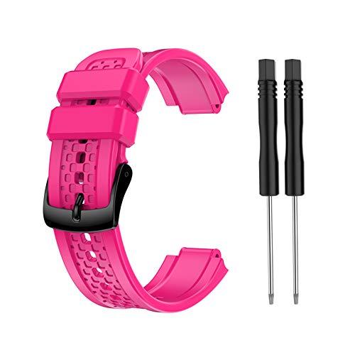 Pinhaijing 2021 Nova pulseira de silicone de substituição para relógio Garmin- Forerunner 25 feminino pequeno código GPS relógio com ferramentas Drop Shipping
