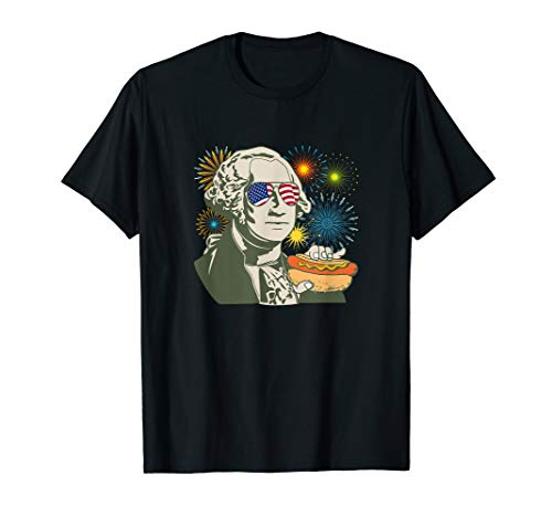 Fireworks & Hot Dogs Shirt - Geaorge Washington - Summer Gif