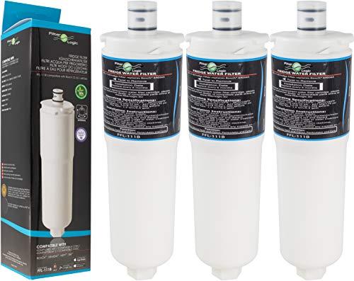 Filterlogic FFL-111B | 3er Pack Wasserfilter kompatibel mit 3M CS-52 Filter für Bosch, Siemens, Neff, Gaggenau Kühlschrank - Filterkartusche 00576336, 576336/00640565, 640565 / CS-51