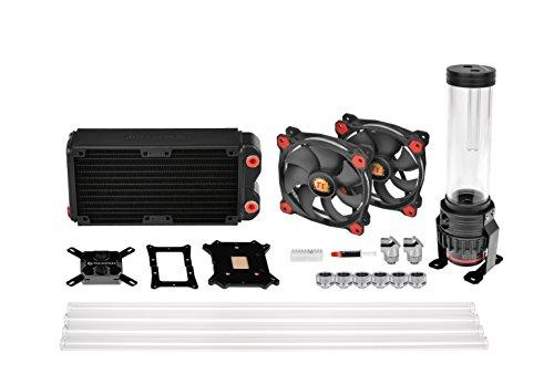 Thermaltake Pacific RL240 D5 Water Cooling Kit/Kit di Raffreddamento ad Acqua/Nero/rosso