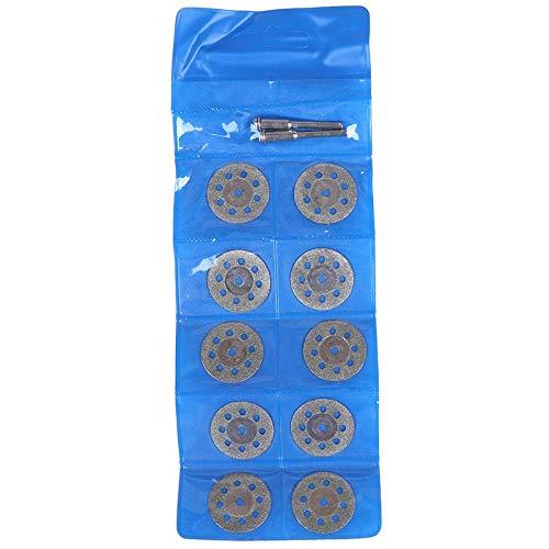 BEVANNJJ ZYY 10/25 mm Micro Cubierta de la Hoja de Diamante de Sierra con Dos Cuchillas de Corte for la Varilla de perforación acoplar el Fit Cortador rotativo
