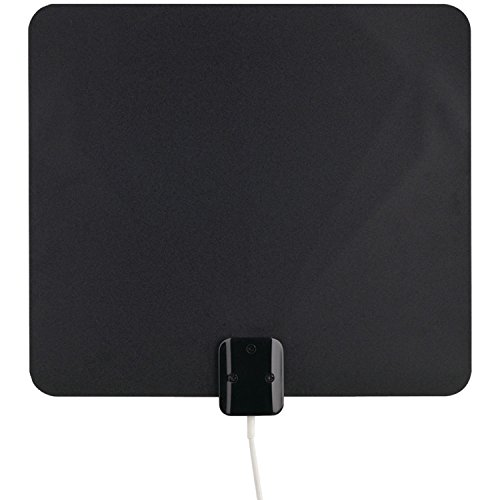 RCA ANT1100Z Ultra-Thin Multi-Directional Indoor HDTV Antenna with 40 Mile Range,Black/White