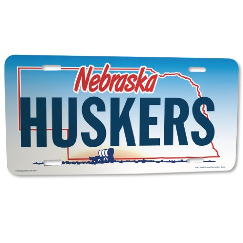 VictoryStore Front License Plate - State of Nebraska - Huskers