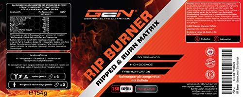 RIP Burner – Extreme USA Fatburner – 90 Kapseln – 30 Tage Anwendung – Starke Wirkung – German Elite Nutrition - 2