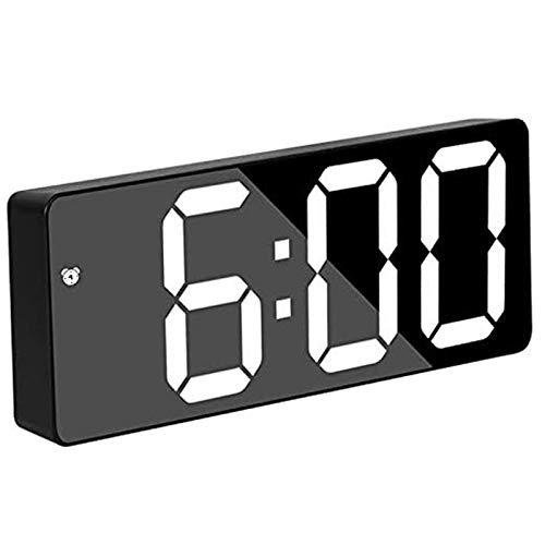 WFSH Smart Digital Alarm Relojes para dormitorios Pantalla LED Grande con Snooze Dimmable Fecha de Temperatura 12/24 HR Viaje PEQUEÑO Reloj DE ESCRITORÍA ELECTRÓNICO para NIÑOS Adultos