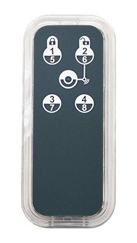 Zipato PH-PSR03.EU Z-Wave Botones Negro, Transparente - Mando a distancia (Sistema de seguridad, Z-Wave, Botones, Recargable, Negro, Transparente)