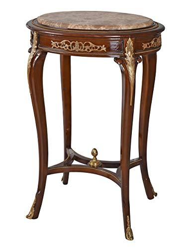 Barocktisch Massivholz Marmor Tisch Beistelltisch Wohnzimmertisch Antik Säulentisch cat823 Palazzo Exklusiv