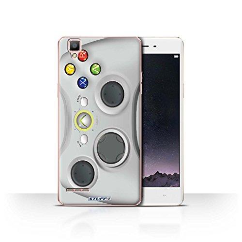 Hülle Für Oppo F1 Spielkonsolen Weiß Xbox 360 Design Transparent Ultra Dünn Klar Hart Schutz Handyhülle Hülle