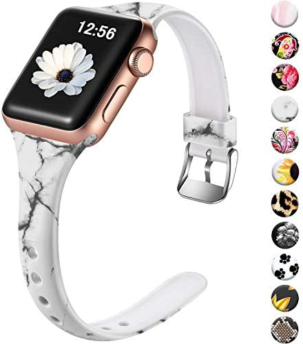 Laffav Slim Floral Band Compatible with Apple Watch Band 40mm 38mm iWatch SE Series 6 5 4 3 product image