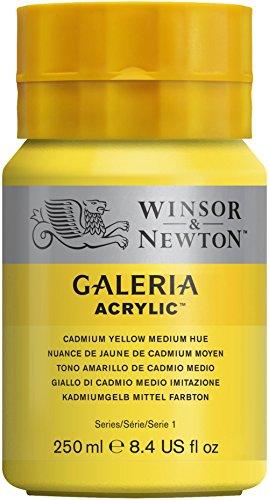 Winsor & Newton 250 ml acrílico galeria, Amarillo Mediano cadmio