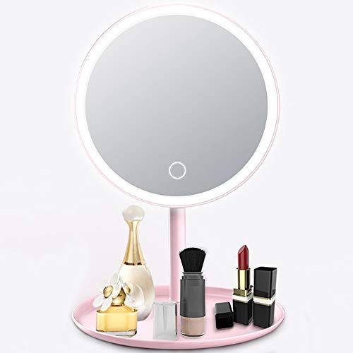 Lixada Espejo Maquillaje Luz Interruptor Pantalla