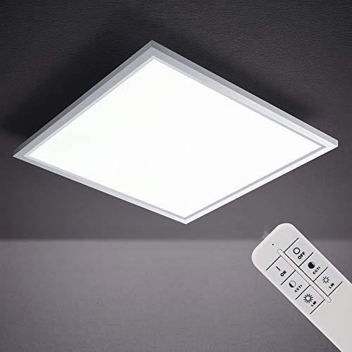 Lámpara LED de techo con sensor de movimiento, ultraplana, lámpara de techo de 18 W, 1500 lúmenes, sensor de luz diurna, cuadrado, blanco, plástico, 18 W, 29,5 x 29,5 cm