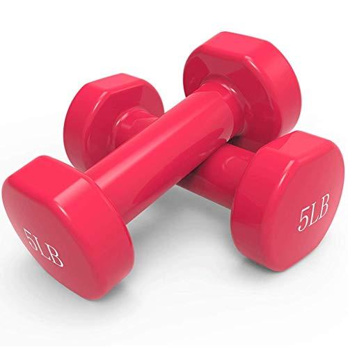 BBZZ Par de mancuernas de 5 kg para mujer, para pérdida de...