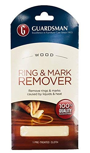Guardsman Ring and Water Mark Remover Cloth 1 Pack- Wood Ring Mark Remover - Removes White Rings and Marks Caused by Liquid, Moisture and Heat from Wooden Furniture, Wooden Surfaces, Wooden Flooring