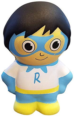 Orb Toys Ryan's World Squishy Blue Titan, White, Blue, Yellow.