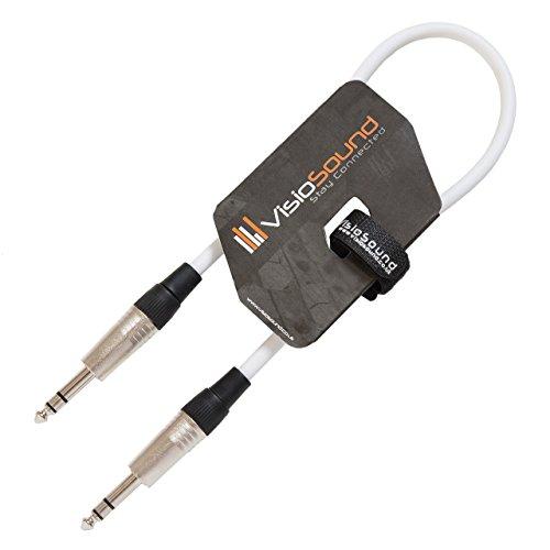 6,3mm Stereo Klinke auf 6,3mm Stereo Klinke/Symmetrisches Signal/Audio/Patchkabel 0.5m Weiß