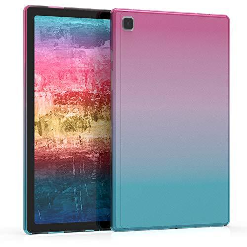 kwmobile Cover Compatibile con Samsung Galaxy Tab A7 10.4 (2020) - Custodia Tablet in Silicone TPU - Copertina Protettiva Tab - Backcover - 2 Colori Fucsia/Blu/Trasparente