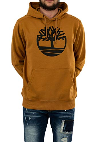 Timberland Core Tree Logo Pullover Hoodie Brushback Wheat Boot/Black LG